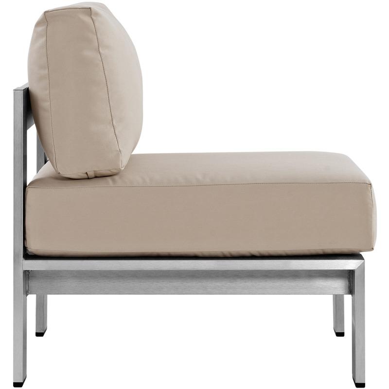 Shore 3 Piece Outdoor Patio Aluminum Sectional Sofa Set