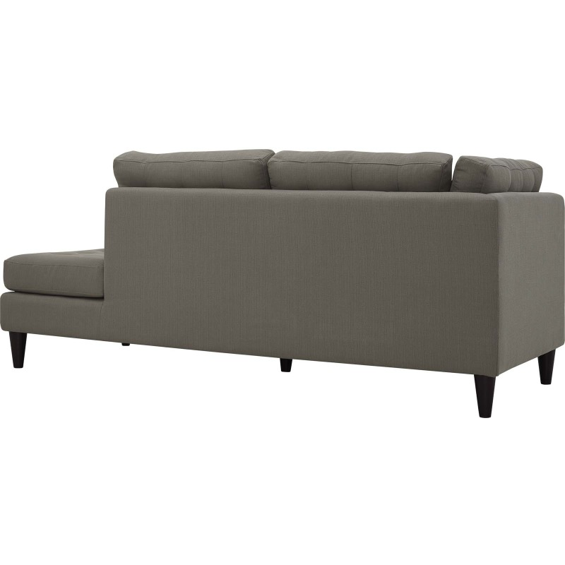 Empress Upholstered Fabric Right Facing Bumper