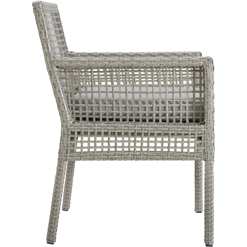 Aura Dining Armchair Outdoor Patio Wicker Rattan Set of 2