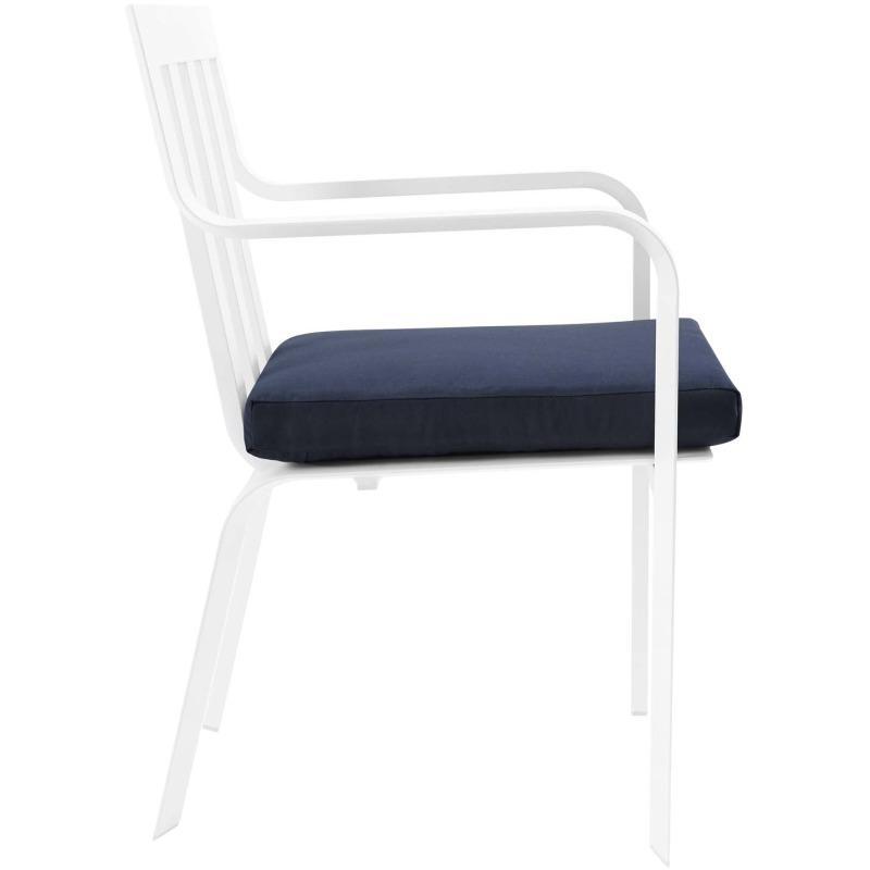 Baxley Stackable Outdoor Patio Aluminum Dining Armchair