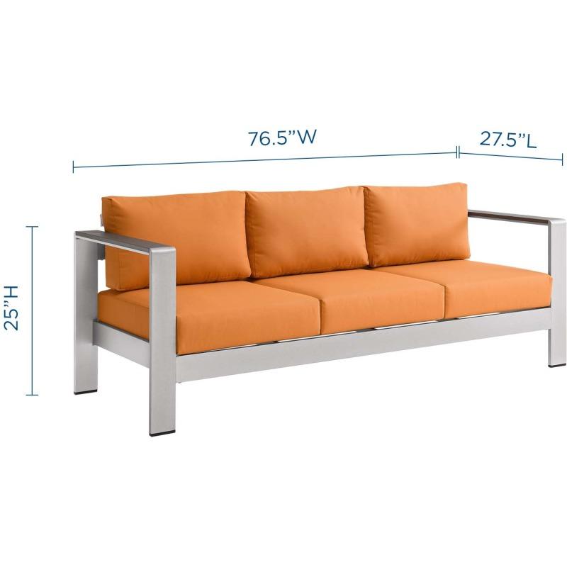 Shore Outdoor Patio Aluminum Sofa