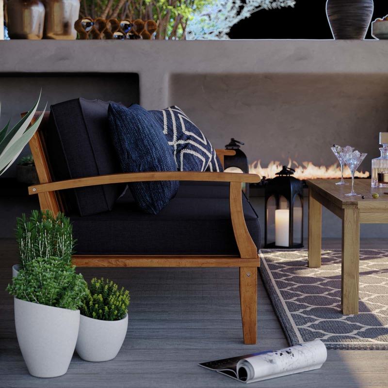 Marina Outdoor Patio Teak Sofa