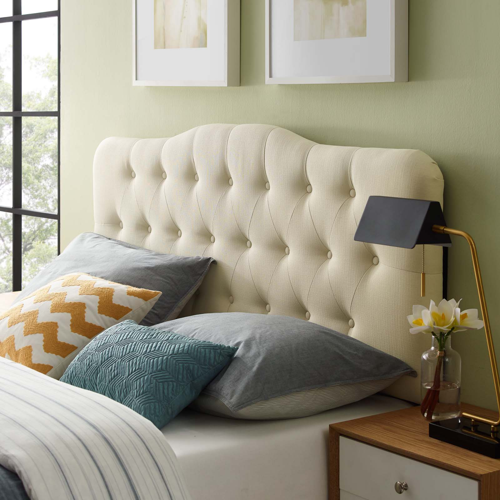 Annabel Full Upholstered Fabric Headboard By Modway Mod 5156 Ivo Tomlinson Furniture