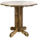 "Homestead 36"" Pub Table - Stained and Lacquered"