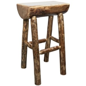 "Glacier Country Half Log 24"" Counter Stool"