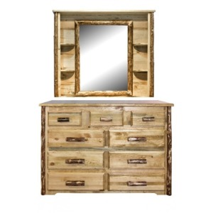 Glacier Country 9 Drawer Dresser w/ Mirror