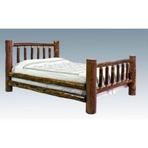 Glacier Country Log Bed - Queen