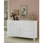 Lake House 8 Drawer Dresser - White