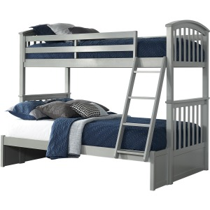 Schoolhouse 4.0 Sidney Twin Over Full Bunk- Gray