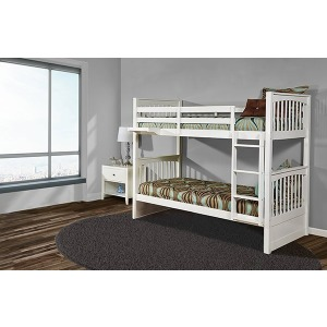 Pulse Twin/Twin Bunk Bed w/Trundle- White