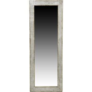 Maya Leaner Mirror Shiny Antique Grey
