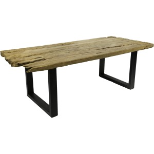 Trunk Dining Table Iron / Natural Heavily Distressed