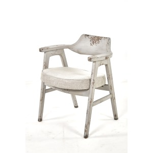 Wagner Arm Chair Distressed Grey / Anew Grey