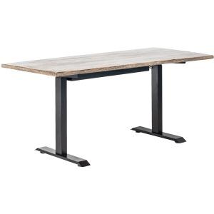 """Andy 63"""" Adjustable Desk Black Wash Iron Base / Antique Black Top"""