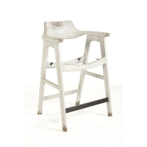 Wagner Counter Chair Distressed Grey / Sand Seat