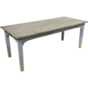 Amelia Dining Table Antique Blue Top & Distressed Light Blue Base