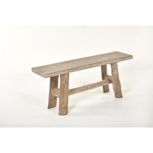 Lincoln Bench Light Grey Washed