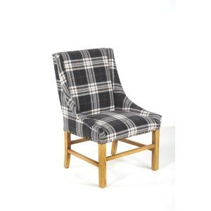 Josh Arm Chair Natural / Tartan Charcoal