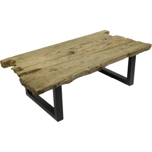 Trunk Rect Coffee Table Natural Heavily Distressed