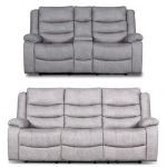 Granada - Dual Recliner Sofa & Console Loveseat Set - Arcadia Beamer Gray