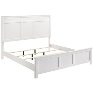 Andover Queen Headboard, Footboard, & Slats - White