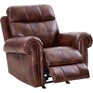 Roycroft Glider Recliner W/power Foot Rest - Pecan