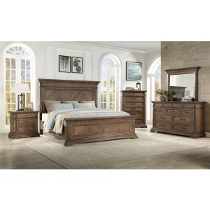Mar Vista Queen 4PC Bedroom Set -Walnut