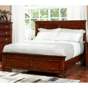 Tamarack Queen Panel Bed - Brown Cherry