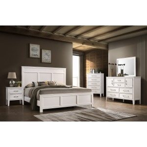 Andover King 4PC Bedroom Set -White