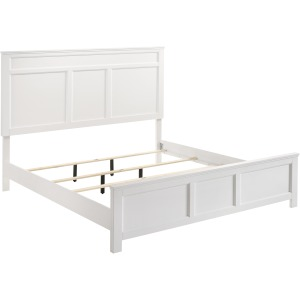 Andover King Headboard, Footboard, & Slats - White