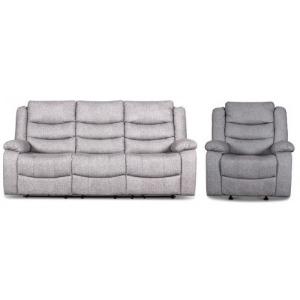 Granada Glider Recliner & Sofa Set - Arcadia Beamer Gray