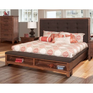Cagney King Bed - Chestnut