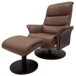 Adam Top Grain Leather Recliner Lounge Chair with Ottoman