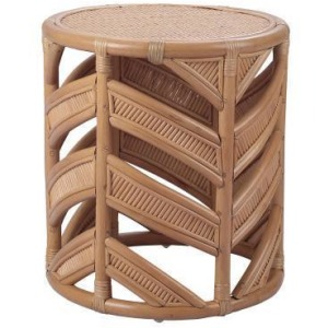 Zurich Rattan End Table - Canary Brown