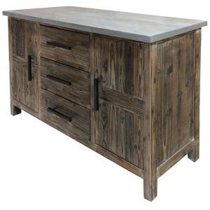 Venezio Sideboard 3 Drawers + 2 Doors w/ Faux Cement Top