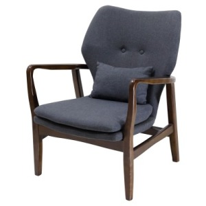 Jean KD Fabric Arm Chair, Pebble Gray