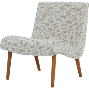 Alexis Fabric Chair Amber Legs