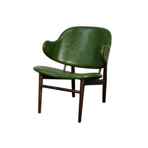 Doyle PU Chair Dark Walnut Legs