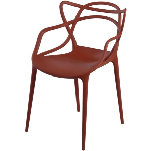 Russell Molded PP Arm Chair -Burnt Orange