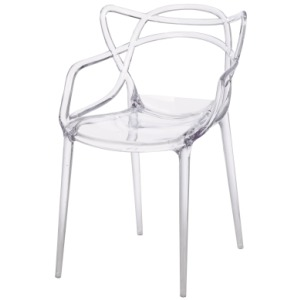 Russell Molded PP Arm Chair -Transparent Crystal