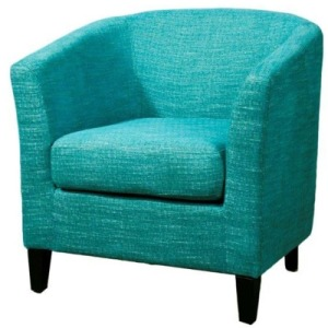 Sheri Fabric Tub Chair, Topaz Blue