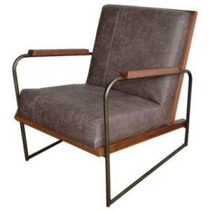 Damian Fabric Accent Arm Chair - Devore Brown