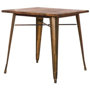 Metropolis Metal Dining Table