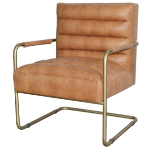 Peyton Bonded Leather Accent Arm Chair