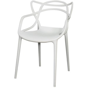 Russell Molded PP Arm Chair -White