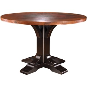 Copper Top Pedestal Dining Table