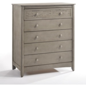 Cape Cod Secrets 5 Drawer Chest in Gray Wash