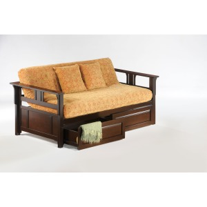 Teddy R Daybed with Storage Drawers in Dark Chocolate