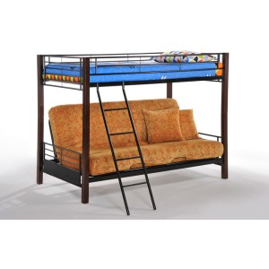 Dandelion Futon Bunk in Dark Chocolate