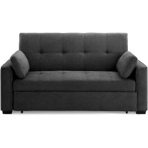 Nantucket Full Sofa Sleeper in Charcoal
